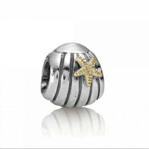 Pandora Charm Seashell and Starfish